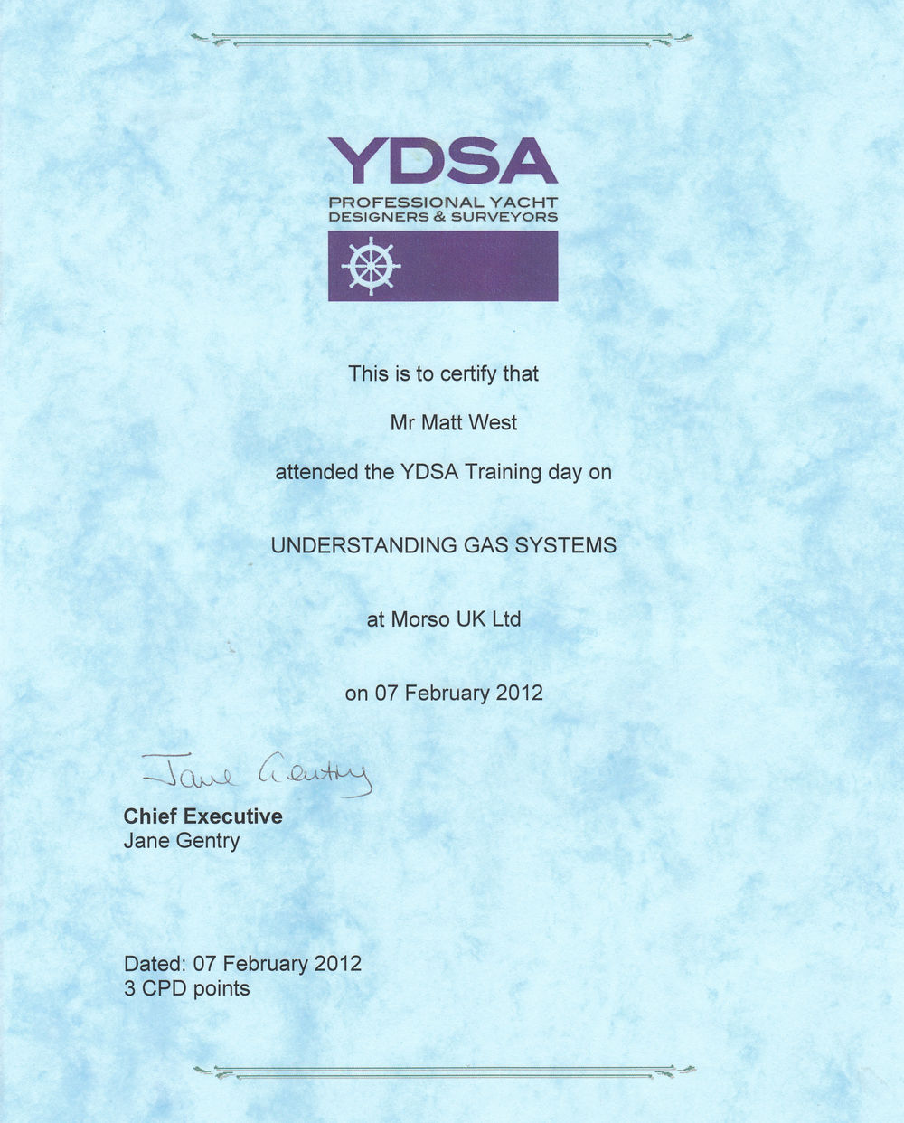 The YDSA Understanding LPG gas systems
